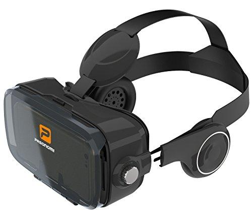 Pasonomi VR 2017 - Casque VR Realité Virtuelle 3D vr Lunnettes avec Écouteur pour iPhone, Samsung, Google Android Système Téléphones intelligents