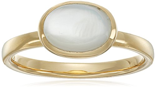 Gold Plated Sterling Silver Mother Pearl