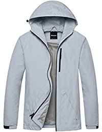Men's Packable Hooded Windbreaker Solid Color Skin Shell Jacket With UV Protect