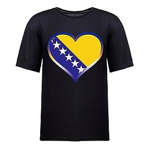 Brasil 2014 FIFA World Cup Mens Football Background Short Sleeve Cotton T-shirt for Fans black