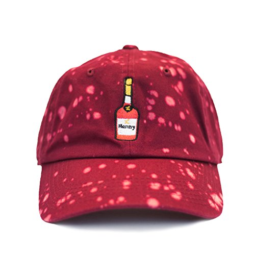 hennessy-dad-hat-baseball-cap-burgungy-bleached