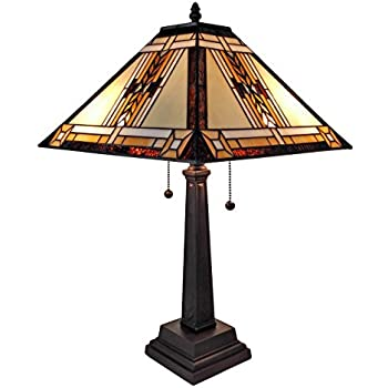 Superior Amora Lighting AM099TL14 Tiffany Style Mission Design Table Lamp 22 In