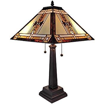 Amora Lighting AM1053TL14 Tiffany Style Mission Design Table Lamp ...