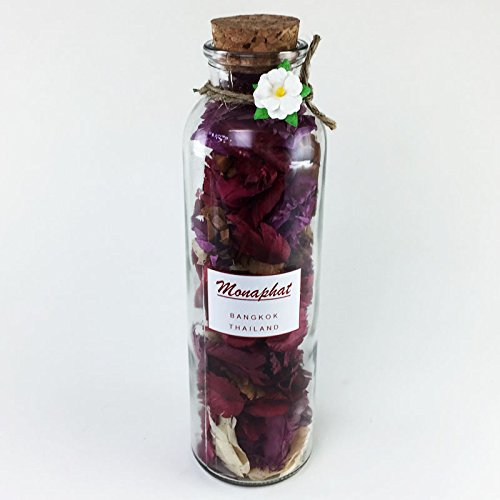 MONAPHAT The Beautiful Glass Bottle Design Decorative with ORCHID Fragrance Potpourri #PR-0410 by MONAPHAT