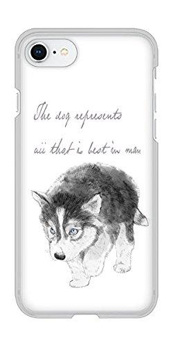Amazon Iphone8 ハードケース Yj194 ハスキー 犬 イラスト かわいい
