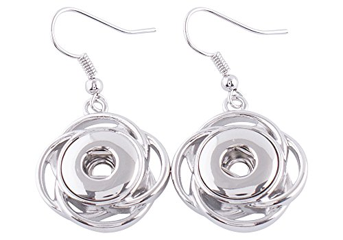 Chunk Snap Charm Earrings for Mini Petite Snaps 12mm (1/2 Diameter) (Interchangeable Earring Beads)