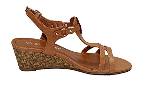 STEKOST - Sandalias de vestir para mujer Camel