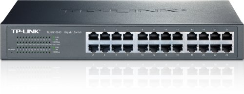 TP-Link 24-Port Gigabit Ethernet Unmanaged Switch | Plug and Play | Desktop/Rackmount | Fanless | Limited Lifetime (TL-SG1024D) ()