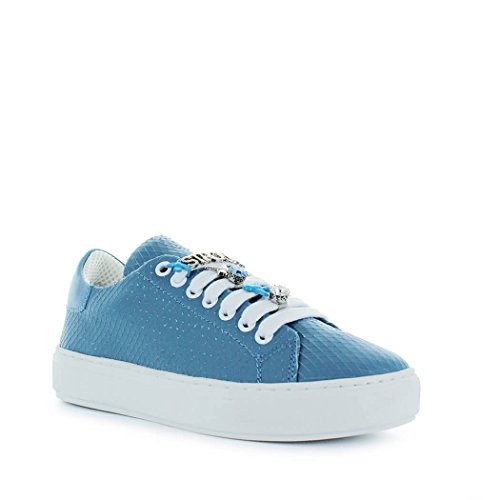 Pinko 2018 Allegra Summer Light Blue Women's Leather Spring Sneaker Shoes qTwzrq