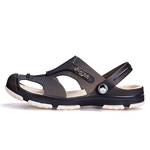 tendenza Tempo libero Uomini scarpa Buco Spiaggia sandali personalità Antiscivolo schianto Doppio uso guadare ,nero,US=7,UK=6.5,EU=40,CN=40