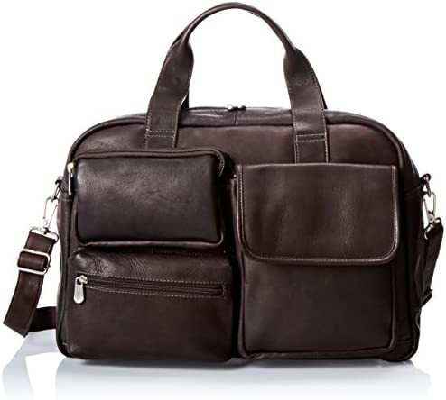 Piel Leather Multi-Pocket Carry-on, Chocolate
