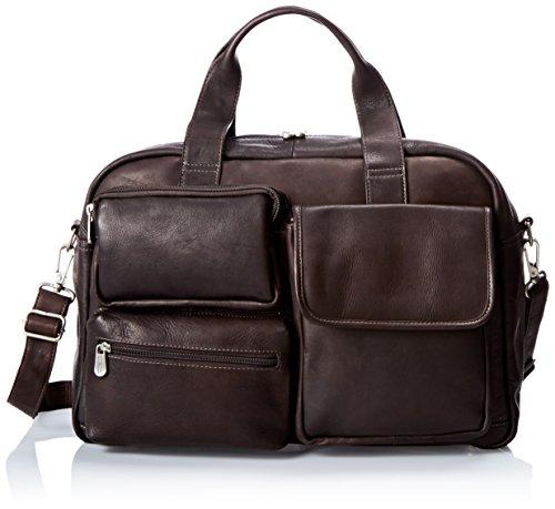 Piel Leather Multi-Pocket Carry-on, Chocolate