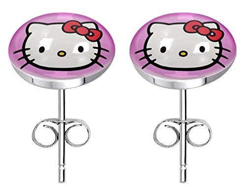 - Stainless steel fashion stud earrings - HelloKitty pink