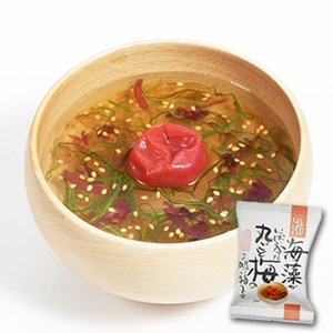 Additive-free freeze-dried soup seaweed is full entered a whole plum soup 6.1gX10 bags (instant soup cosmos food) by Earthink
