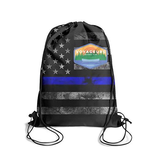 Voyageurs National Park Unisex Drawstring Bag Cute Waterproof Sport Gym Sports Backpack