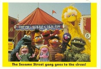 Sesame Street Trading Card 1992 Idolmaker 50 Circus Big