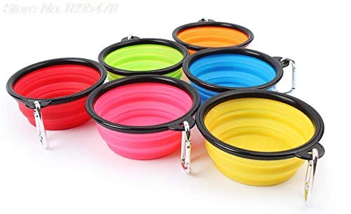 Dog Water Dish - 200pcs Silicone Collapsible Feeding Bowl Dog Water Dish Cat Portable Feeder Puppy Pet Travel Bowls - Feeding Ceramic Bowl Slow Collapsible Glass Water High Splash Dish Pu