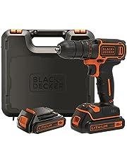 Black+Decker BDCDC18KB-QW - Taladro atornillador 18V y 1.5Ah incluye maletín y 2 baterías