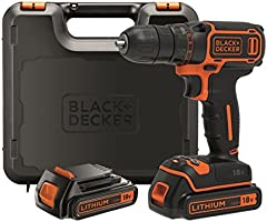 Black+Decker BDCDC18KB-QW - Taladro atornillador con maletín, 2