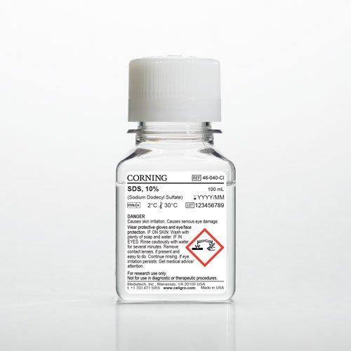 Mediatech 46-040-CI 10% Sodium Dodecyl Sulfate, 100
