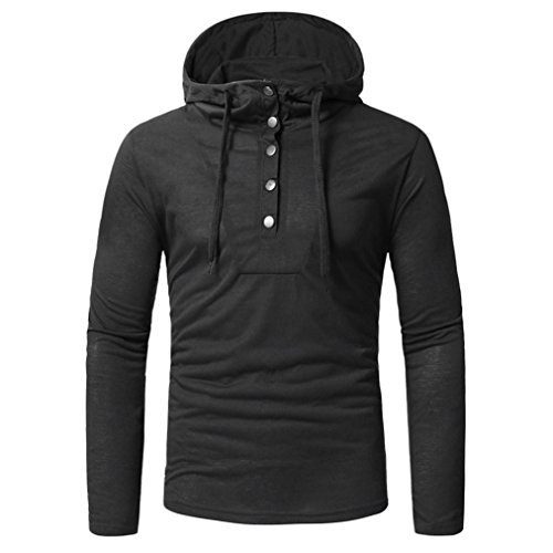 Clearance Sale! Wintialy Fashion Men's Autumn Fastener Long Sleeved Hoodie Sweatshirts Top Blouse (Hoodie Reversible Flannel)