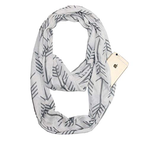 Scarf With Pockets - USAstyle Premium Plain Infinity Scarf With Pocket - Fantastic Soft, Stretchy Jersey