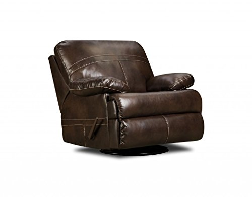 Simmons Upholstery 50981-16 Miracle Saddle Bonded Leather Swivel Glider Recliner