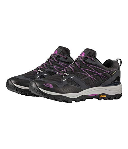 (The North Face Hedgehog Fastpack GTX Hiking Shoe - Women's Ebony Grey/Purple Cactus Flower 6.5)