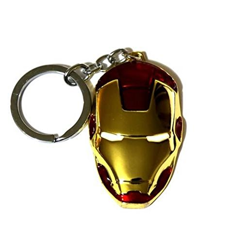 Tonith Iron Man Mask Car Truck SUV Boat Home Office Metal Keychain Pendant Key Chains (Iron Man Mask)