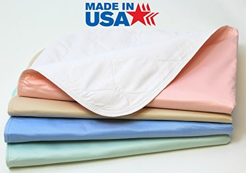 4 Pack – Heavy Weight Soaker 34×36 Waterproof Reusable Incontinence Underpads/Washable Incontinence Bed Pads – Green…