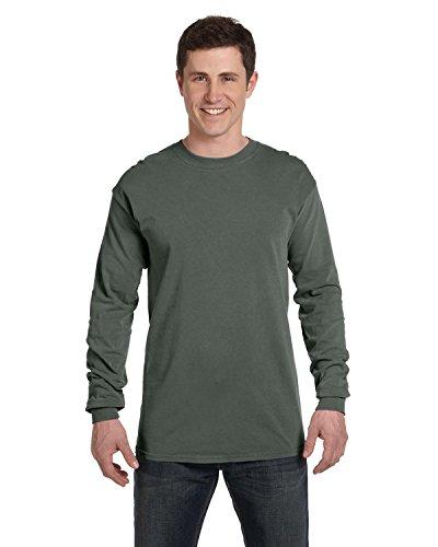 Adult Heavyweight Long Sleeve T-shirt - Comfort Colors 6014 Adult Heavyweight Ringspun Long Sleeve T-Shirt - Willow - XL