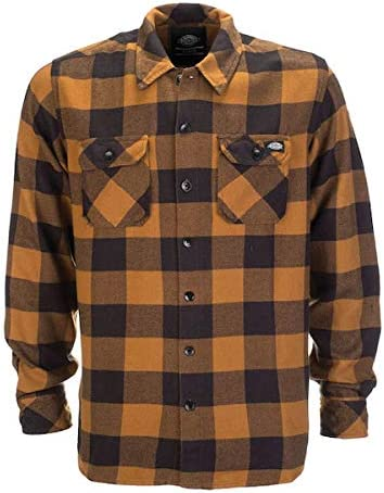 Camisa de Hombre Dickies Sacramento Manga Larga Brown Duck XS marró, Negro: Amazon.es: Coche y moto