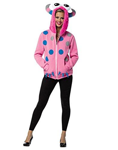 Rasta Imposta Juniors Hoodie Monster, Pink/Multi, One Size