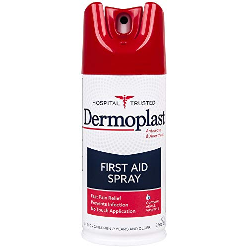 Strength First Aid Antibiotic Ointment - Dermoplast First Aid Spray, 2.75 Ounce Can,  Antiseptic & Anesthetic