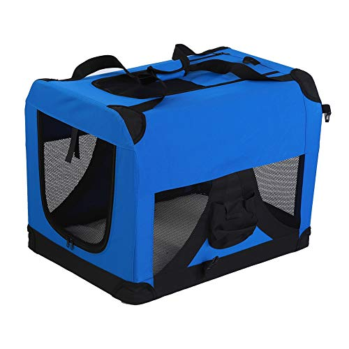 Cocoarm Dog Pet Crate,Pet Carrier Pet Travel Tote Portable Bag Soft Sided Dog Carrier Home for Cats and Dogs (Blue)