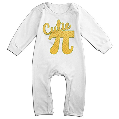 Baby Infant Romper Cutie Pi Long Sleeve Jumpsuit Costume White 24 (Baseball Cutie Costumes)
