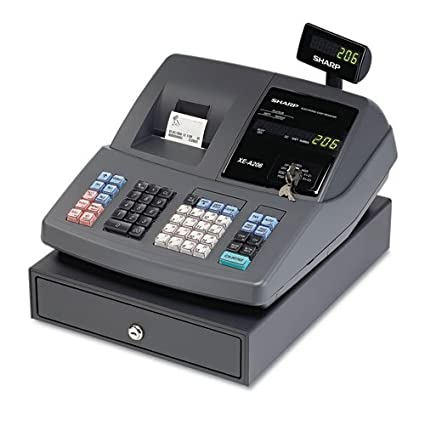 amazon com sharp electronics xea206 cash register electronics rh amazon com Sharp XE A206 Key Sharp XE-A206 Cash Register Instruction