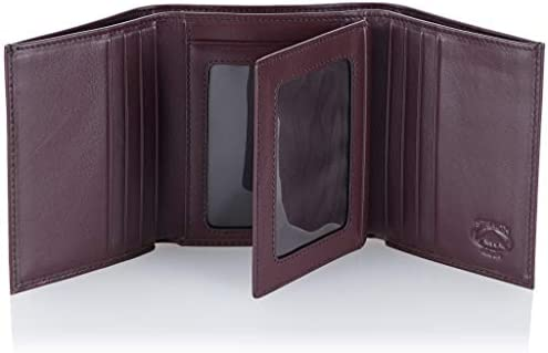 Stealth Mode Leather Trifold Wallet