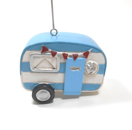 Christmas Camper made our list of the most unique camping Christmas tree ornaments to decorate your RV trailer Christmas tree with whimsical camping themed Christmas ornaments!