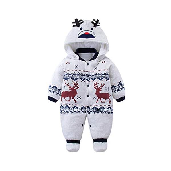 Bambino Ragazze Ragazzi pagliaccetto Neonato addensare Snowsuit Autunno inverno infantile tute attrezzatura 6 mesi Vine 1