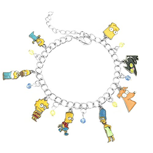 Athena Brand Simpsons Charm Bracelet Quality Cosplay Jewelry Cartoon TV Series with Gift Box