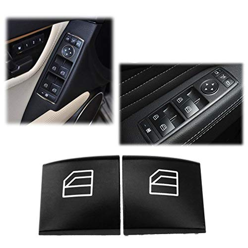 (Ansblue Car Electric Window Switch Lift Button Left and Right Caps, Suitable for Mercedes-Benz W164 ML W251 GL X164 R-class)