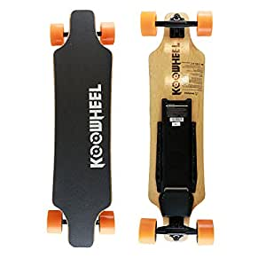 KooWheel D3M+ Edition Electric Skateboard - Upgraded Remote and Circuit Board – Dual 350W Hub Motors and 20 MPH Max Speed (Orange)