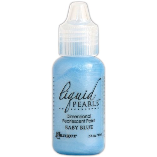 Ranger LPL-01959 Liquid Pearls Glue Paint, Baby Blue, 0.5 oz