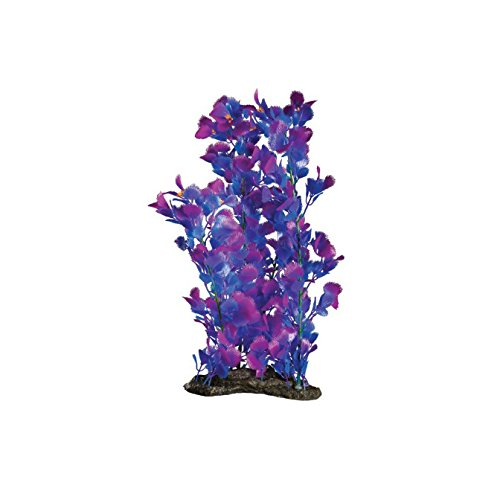 Elive Neon Purple Pectin-Extra Large 16-18'' Aquarium Décor Plastic Plants