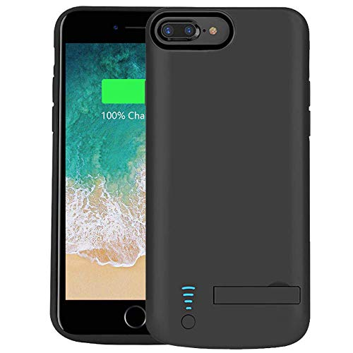 the best attitude b071f 75543 RUNSY Battery Case Compatible with iPhone 8 Plus / 7 Plus / 6S Plus / 6  Plus, 8000mAh Rechargeable Extended Battery Charging/Charger Case, Adds 2X  ...