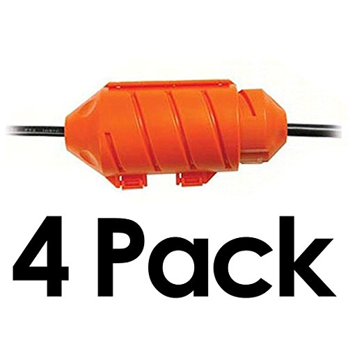 Cord Connect Water-Tight Cord Lock - Orange (4 Pack) ()