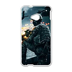 Battlefield Gamex0 HTC One M7 Cell Phone Case White TPU Phone Case SY_741040
