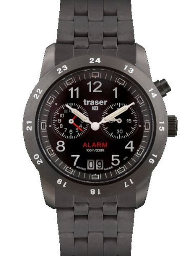 Traser Big Date Alarm Watch T4004.359.34.01