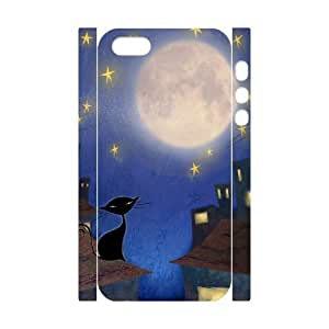 Customized Durable Case for Iphone 5,5S 3D, Cat, Sun and Moon Phone Case - HL-506753